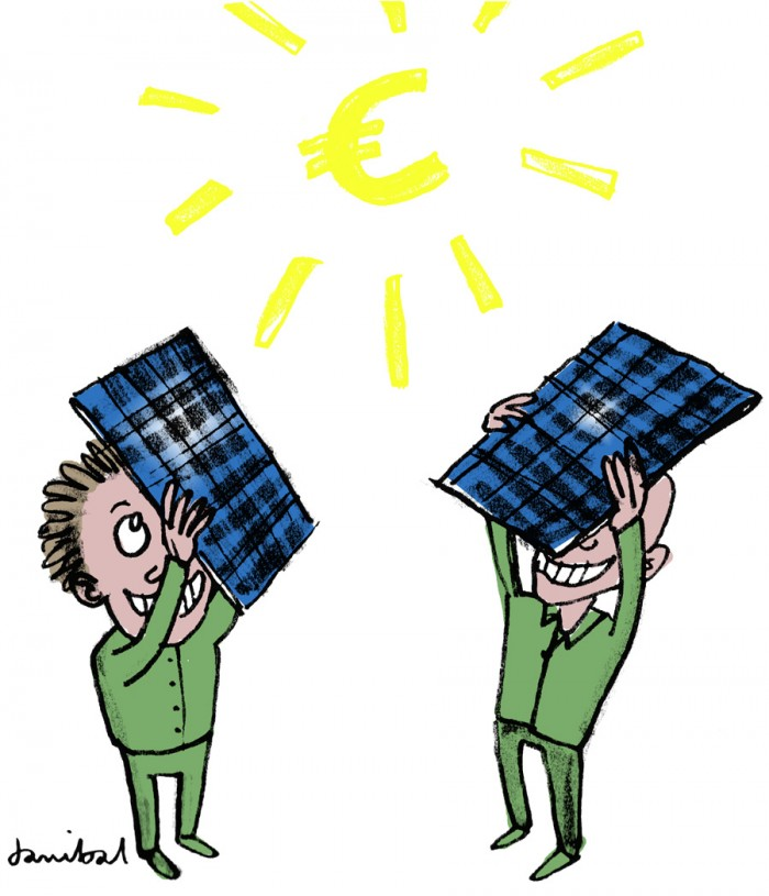 Danibal illustratie Zonnepanelen